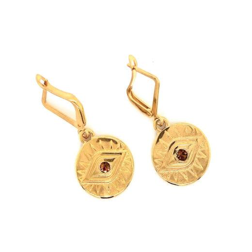 Σκουλαρίκια Golden Eye Χρυσά