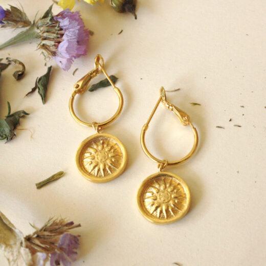 Σκουλαρίκια Vergina Star Χρυσά