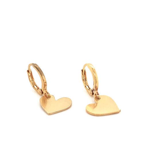 Σκουλαρίκια Κρίκοι Heart Hoops Χρυσά